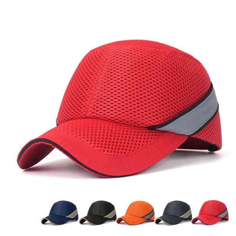 Work Safety Protective Helmet Bump Cap, Hard Inner Shell Baseball Hat