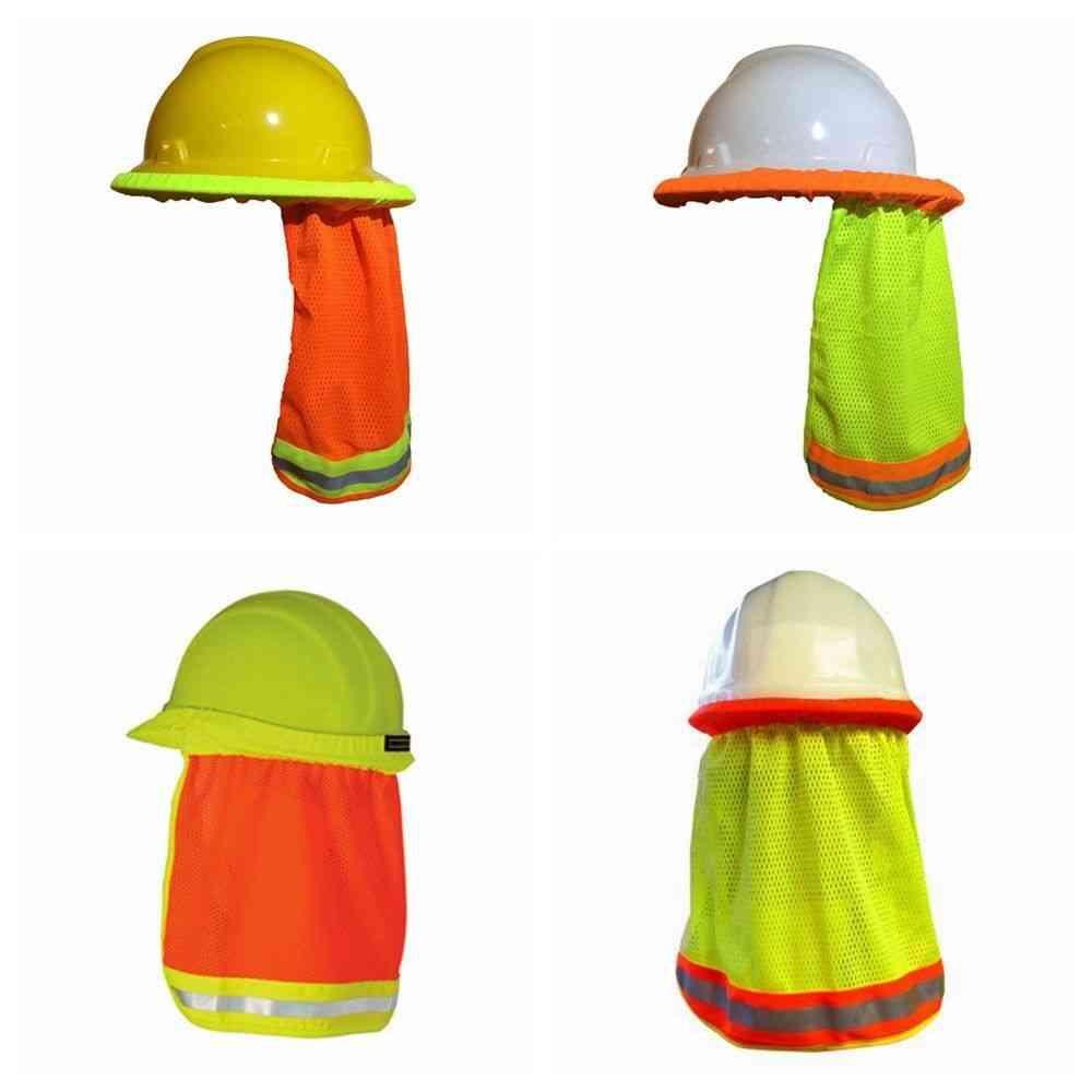 Summer Sun Shade & Safety Hard Hat Neck Shield Helmets