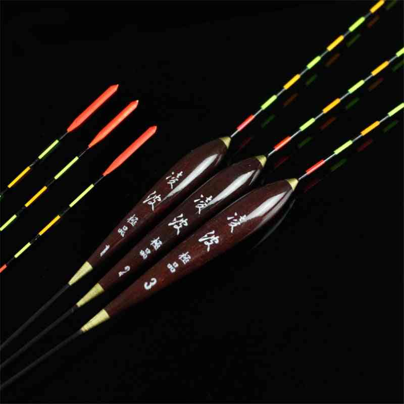 Fishing Float Wood Fluorescent,high Sensitivity Bobber Luminous-float