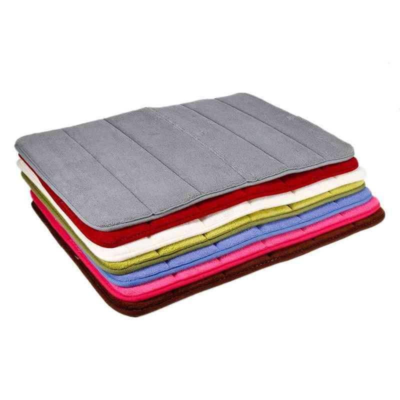 Door /floor Carpet, Water Absorption, Rug Shaggy Memory Foam, Mat Set