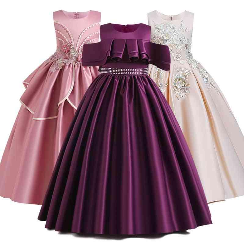 Pageant Lace Petal, Long Banquet, Gown Dresses For Girl Set-1
