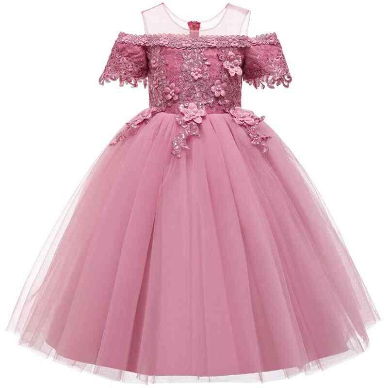 Pageant Party Lace Petal, Long Banquet Gown Dress For Set-5