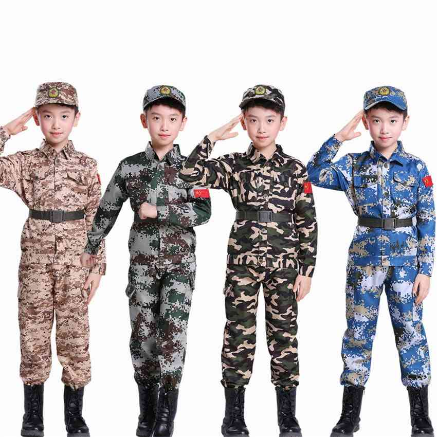 Childrens Combat Army Suits, Military Training Uniforms