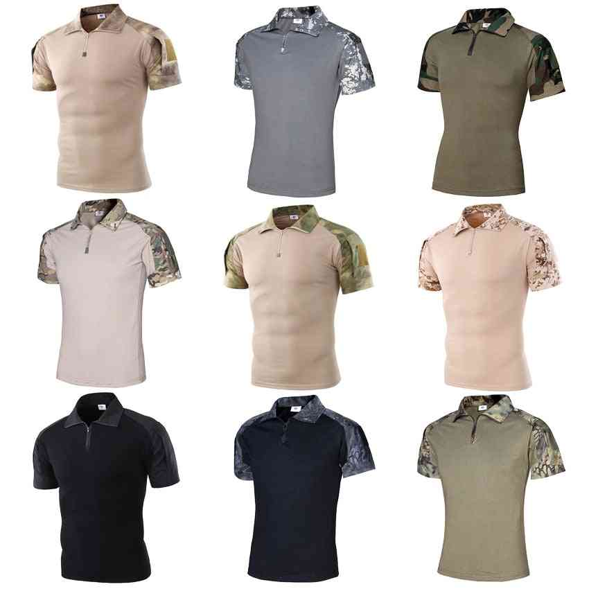 Short Sleeve Polo Shirt, Hunting Combat Army Suit