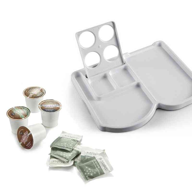 Plastic Tray Set For Coffee Machine, Compartment Capsule Holder