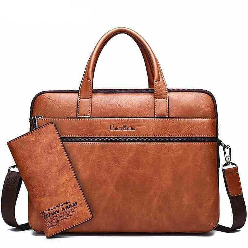 Leather Briefcase, Laptop Handbags & Shoulder Tote Bags