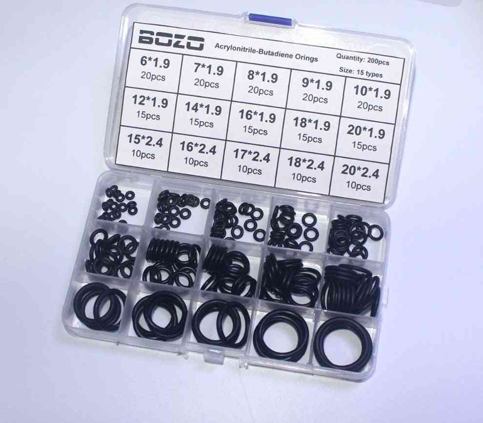 Rubber Gasket Replacements Sealing O Rings Durable Socket Black 15 Sizes Fluorine Silica Gel Pcp Paintball