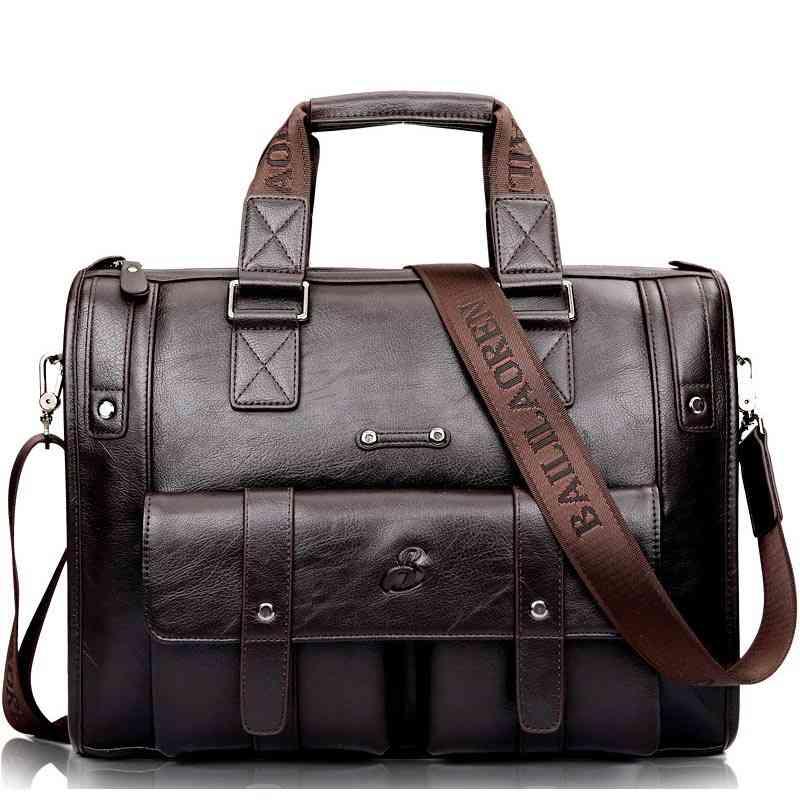 Leather Briefcase Vintage Handbag, Shoulder Bag's