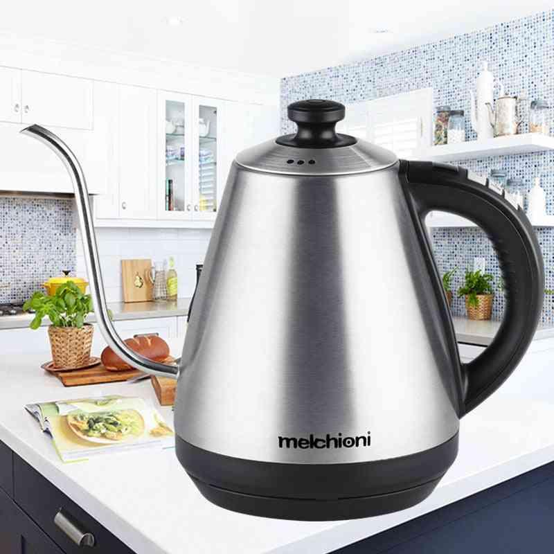Gooseneck Electric Kettle, Adjustable Temperature, Insulation Stainless Steel Drip Teapot