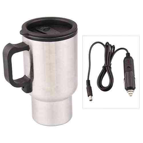 Stainless Stee Car Thermo Cup, Electric Heater Bottle For Coffee, Tea