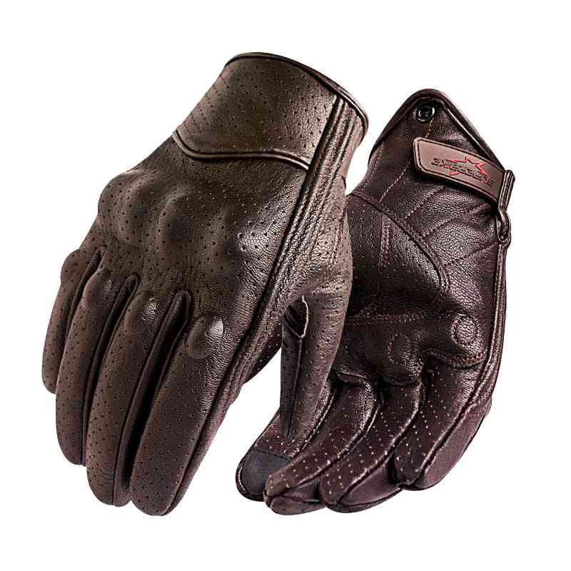 Leather Touch Screen, Full Finger Gloves For Electric Bike, Motorcycle