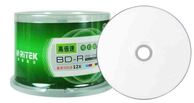 Double Ritek, Bd-r/ 2-12x Speed Printable, Blu Ray, Blank Disc Box