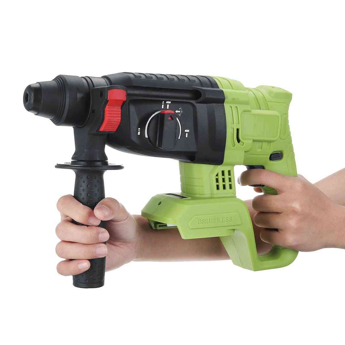 Electric Cordless, Brushless Hammer, Concrete Breaker Punch, Power Drill Tool
