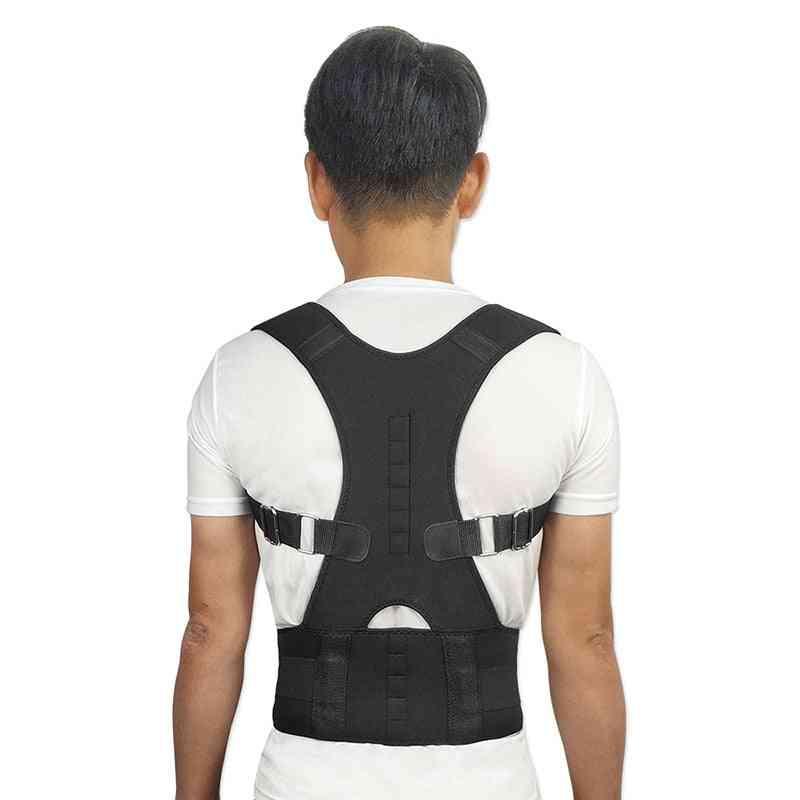 Adjustable Magnetic Posture Corrector Corset Back Brace / Belt