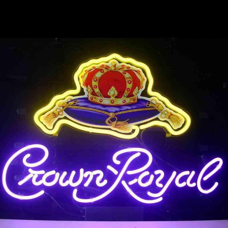 Crown Royal Glass Neon Light Sign Beer Bar