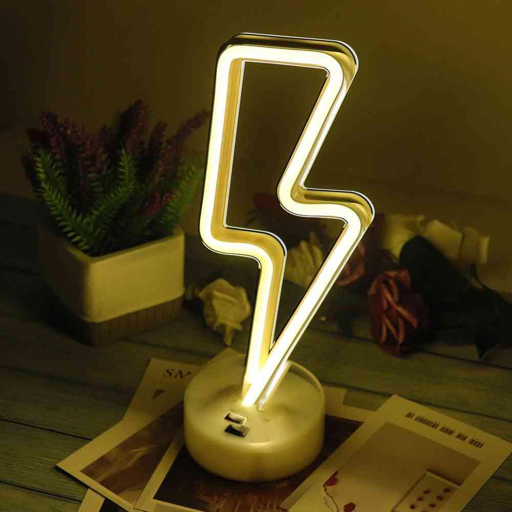 Led Neon Light, Sign Star Moon Lamp Usb Night Lights Decoration