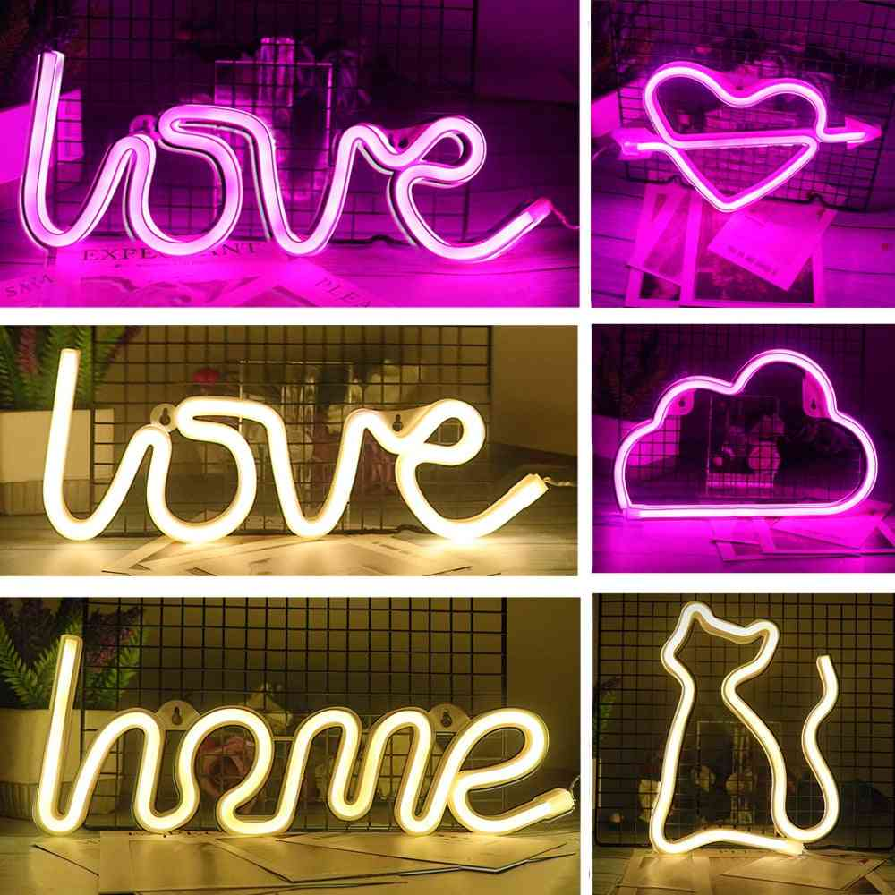 Creative Led Sign Love Heart Wedding Party Decoration Neon Lamp