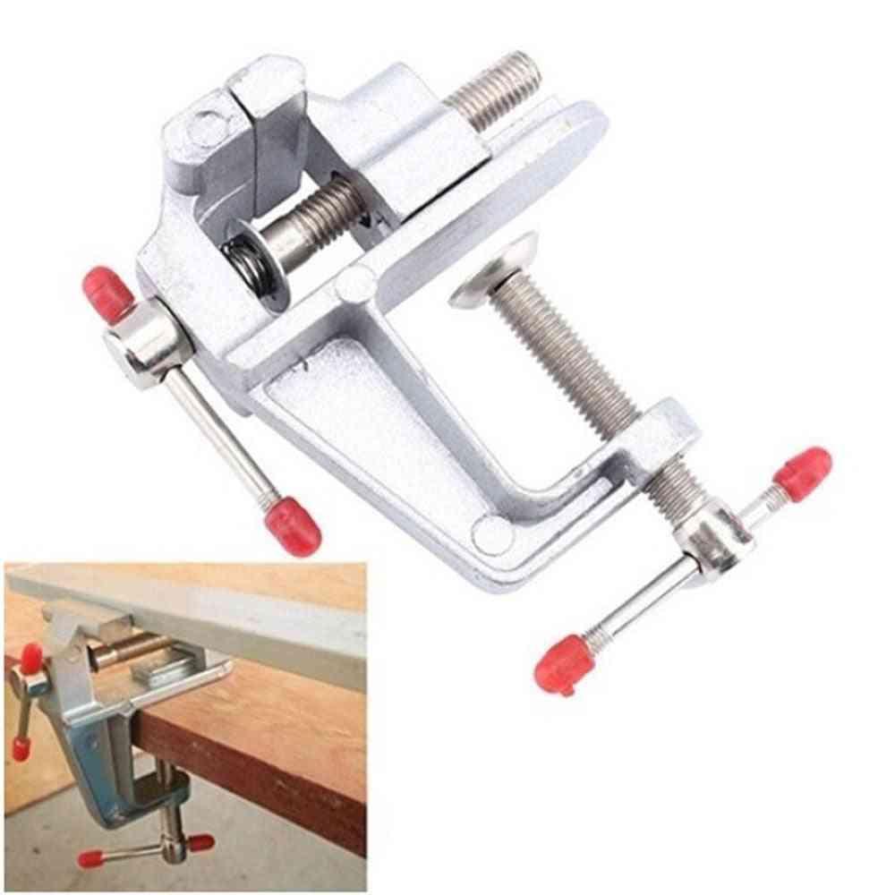 Electric Aluminum, Screw Vise, Bench Table Clamp, Fixed Repair Tool