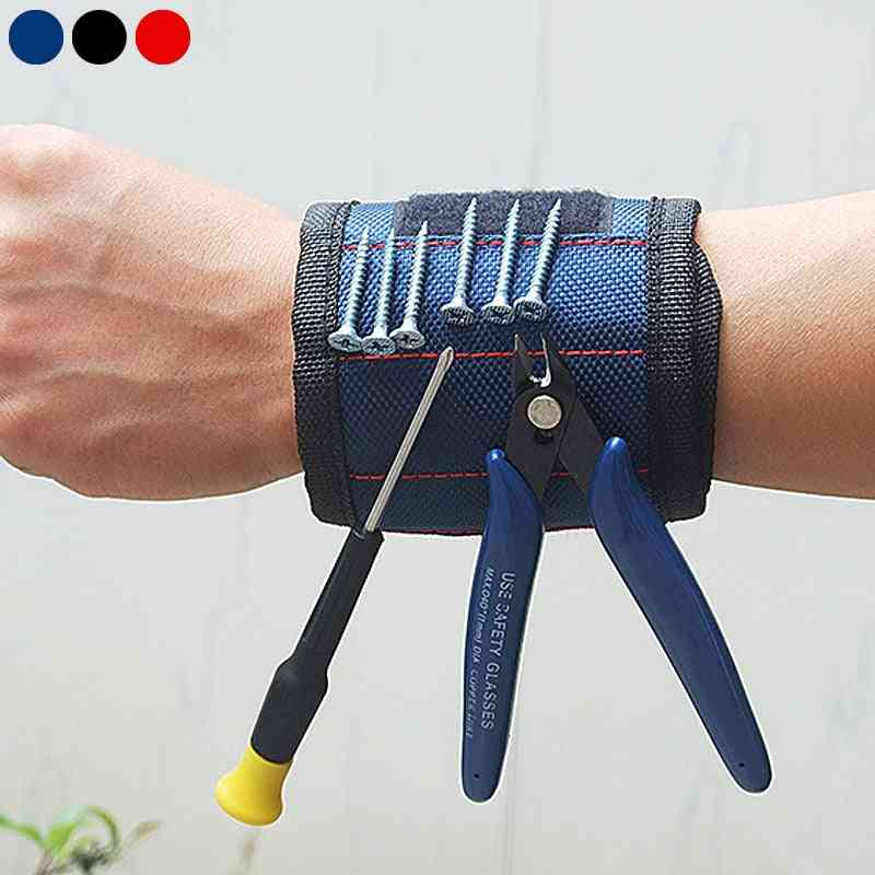 Strong Magnet, Adjustable Wrist Band For Screws, Nails Nuts Bolts, Hand Holder Tool