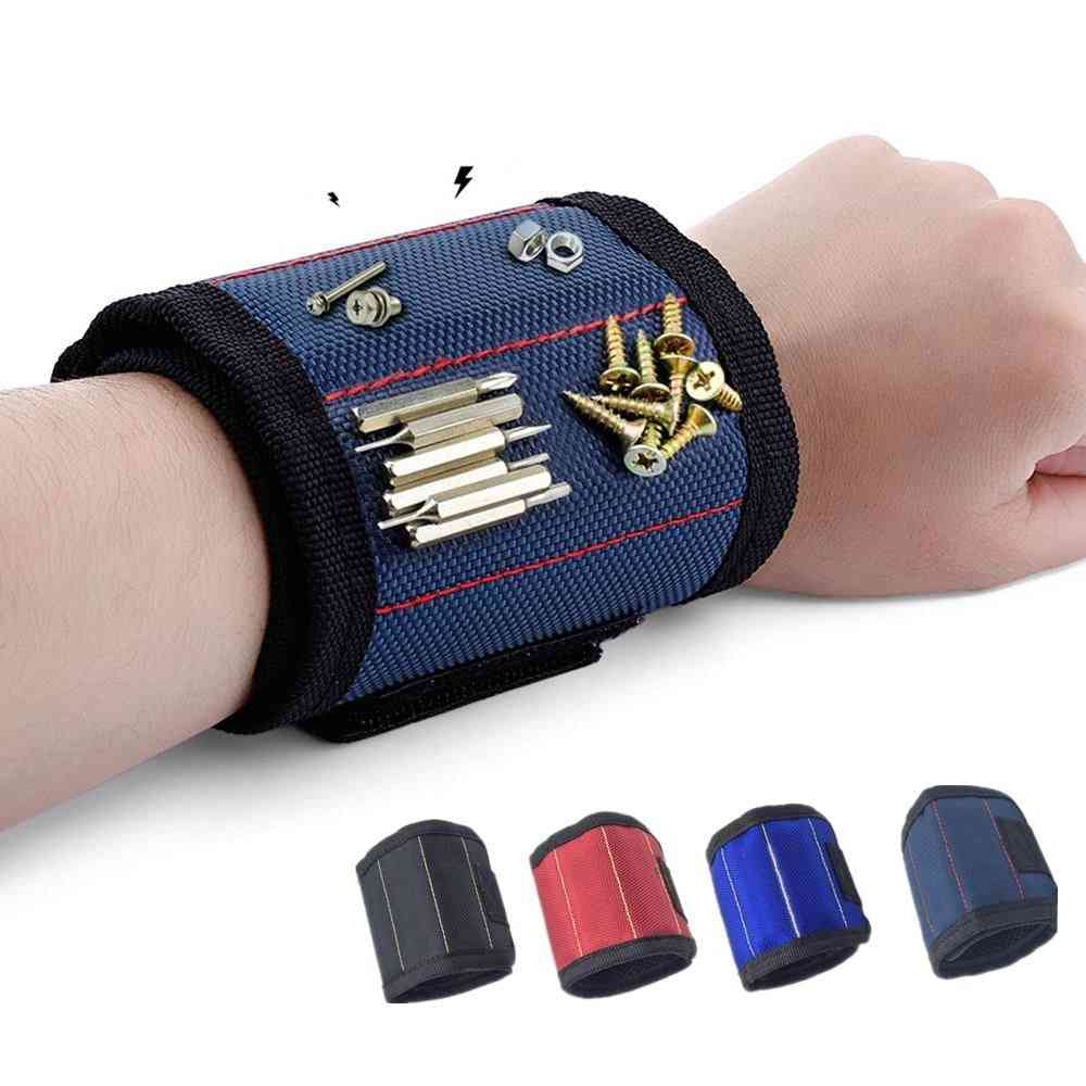 Portable Magnetic Wristband With 3-magnet Electrician Belt, Screws Nails, Repair Tool