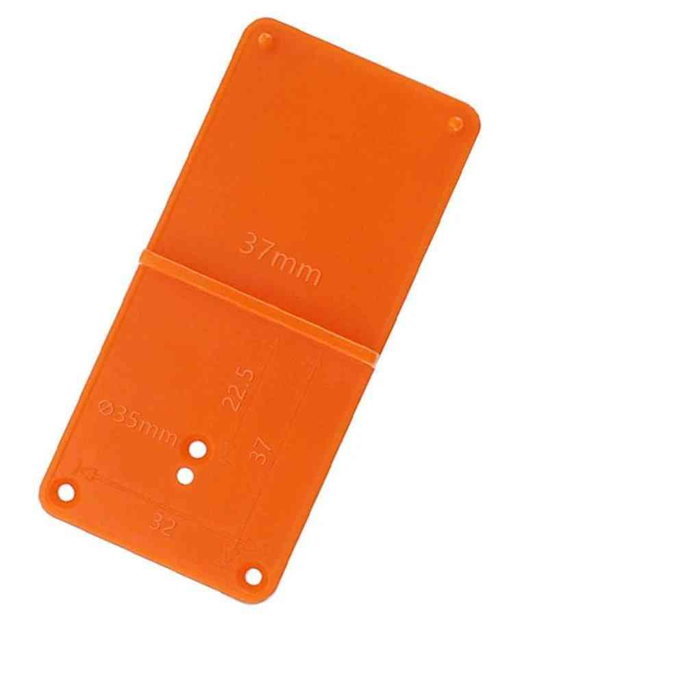 Woodworking Punch Hinge Drill Hole Opener Locator Guide Plate