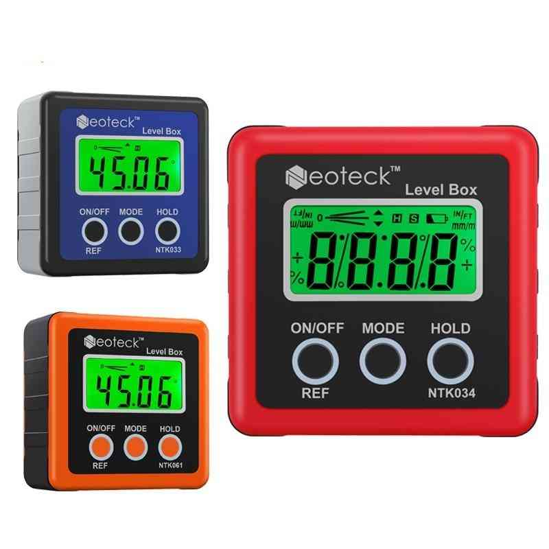 Precision Digital Inclinometer Electron Goniometers, Angle Finder Bevel Box
