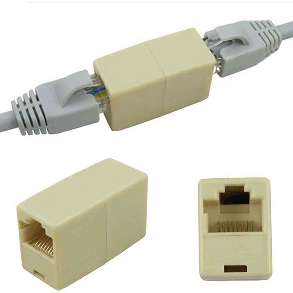 Network Ethernet Dual Straight Head & Lan Cable Joiner Coupler