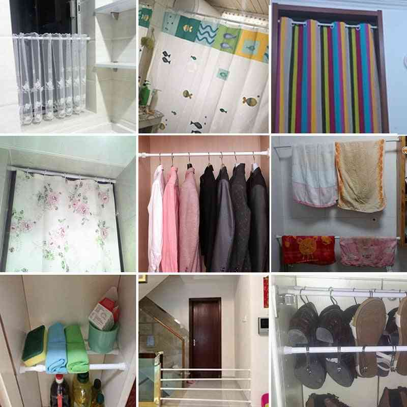 Shower Curtain Rods & Pole Hanger, Spring Loaded, Bathroom Accessories
