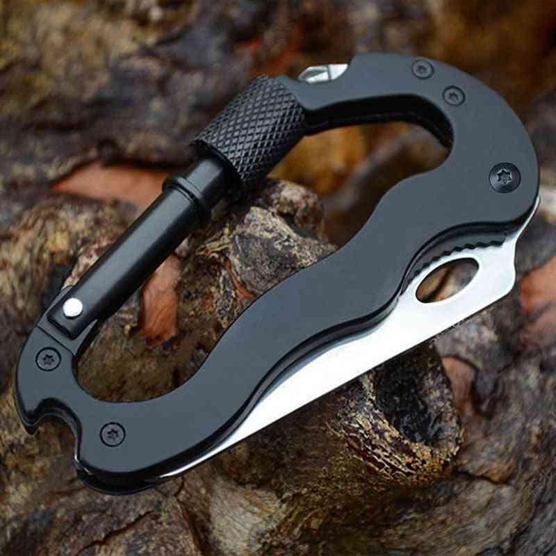 Carabiner Hook Screwdriver Bottle Opener Defensa Tactical Knife