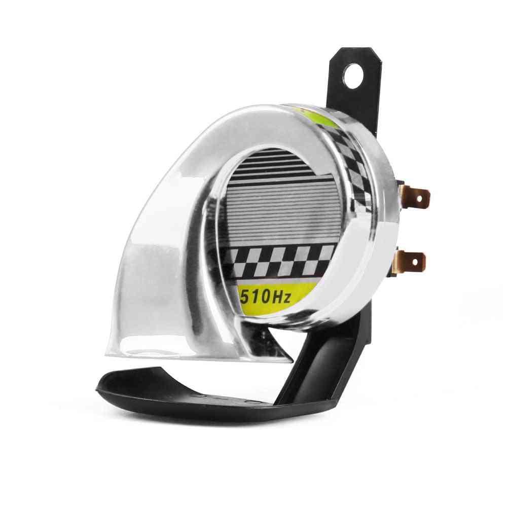 12v Dc 130db Snail Air Motorcycle Horn Siren/ Loud 510hz For Car Truck Motorbike