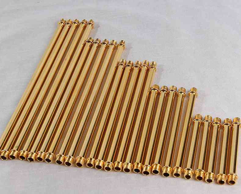 Male Thread Metal, Hollow Tube, Outer Tooth, Straight Tube Pipe, Lighting Accessories