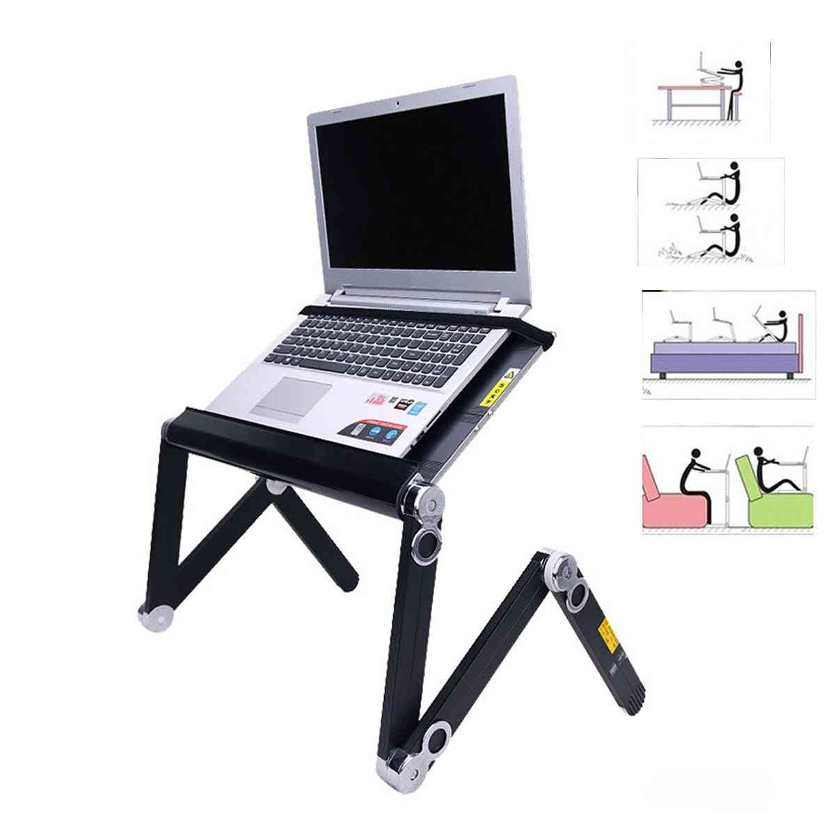 Adjustable Notebook Suitable With Cooling Fan Folding Portable Laptop Desk