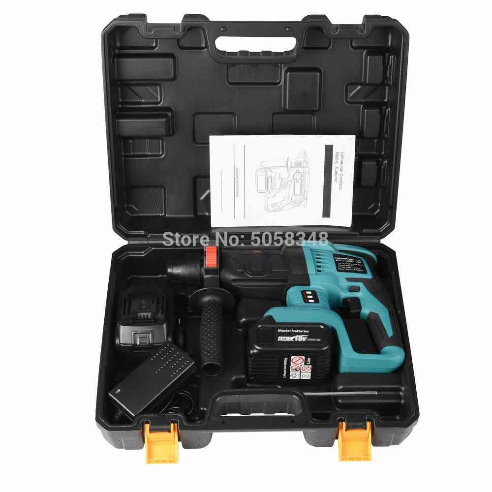 Electric Rechargeable Brushless, Cordless Drill, Rotary Hammer