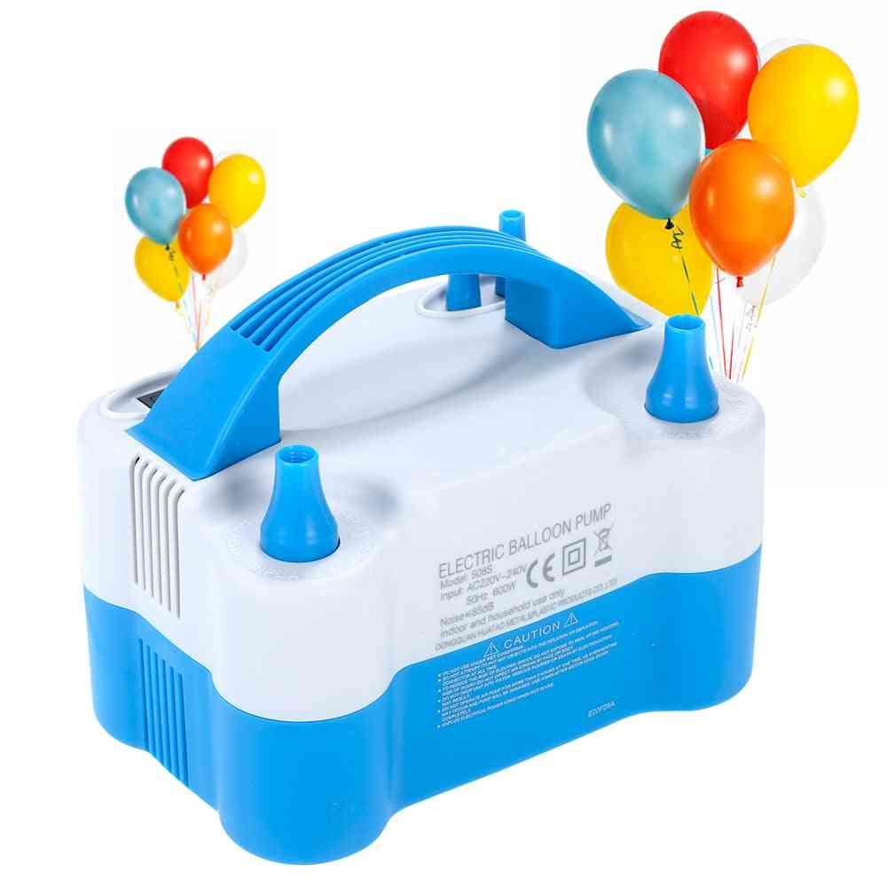 Portable Inflatable Electric, Double Hole Air Balloon Pump