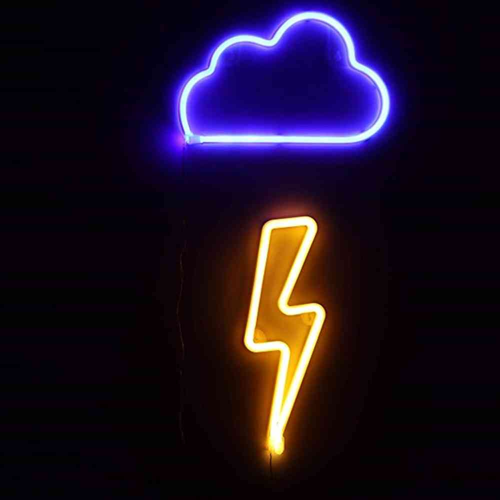 Clouds Lightning Neon Lights Sign For Decorations