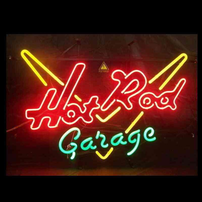Hot Rod Garage Glass Neon Light Sign