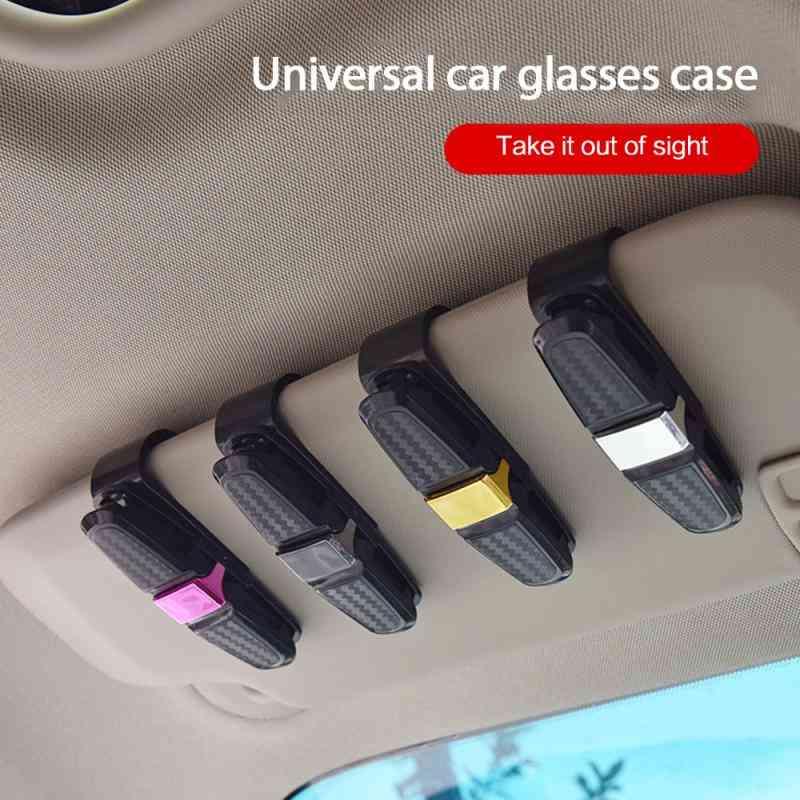 Portable Auto Sunglasses, Sun Visor, Clip Holder For Car Accessories