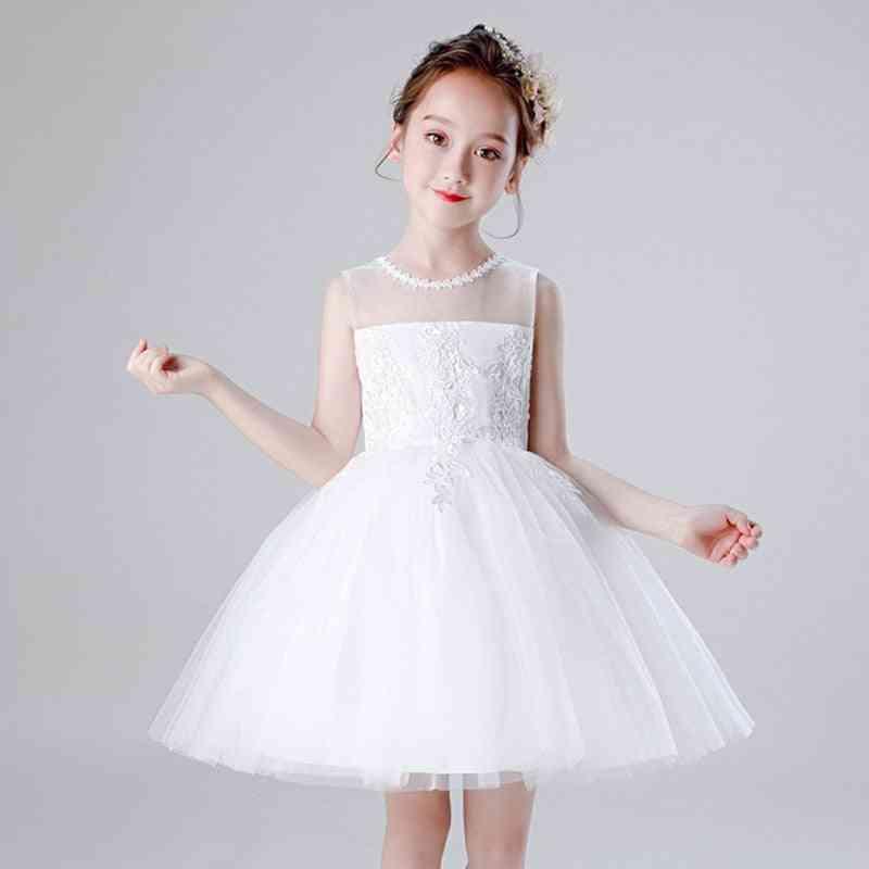 Embroid Tulle Flower Dress For Girl