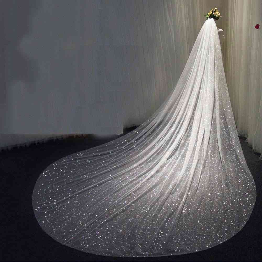 Long Cathedral Sequined Veil