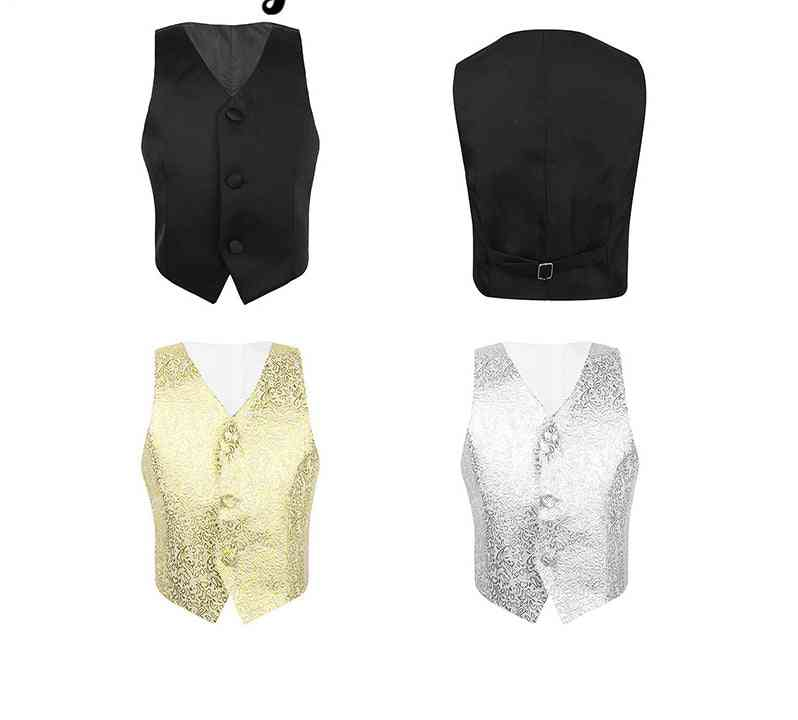 Sequins Floral Pattern, Formal Suits, Waistcoat Dress For