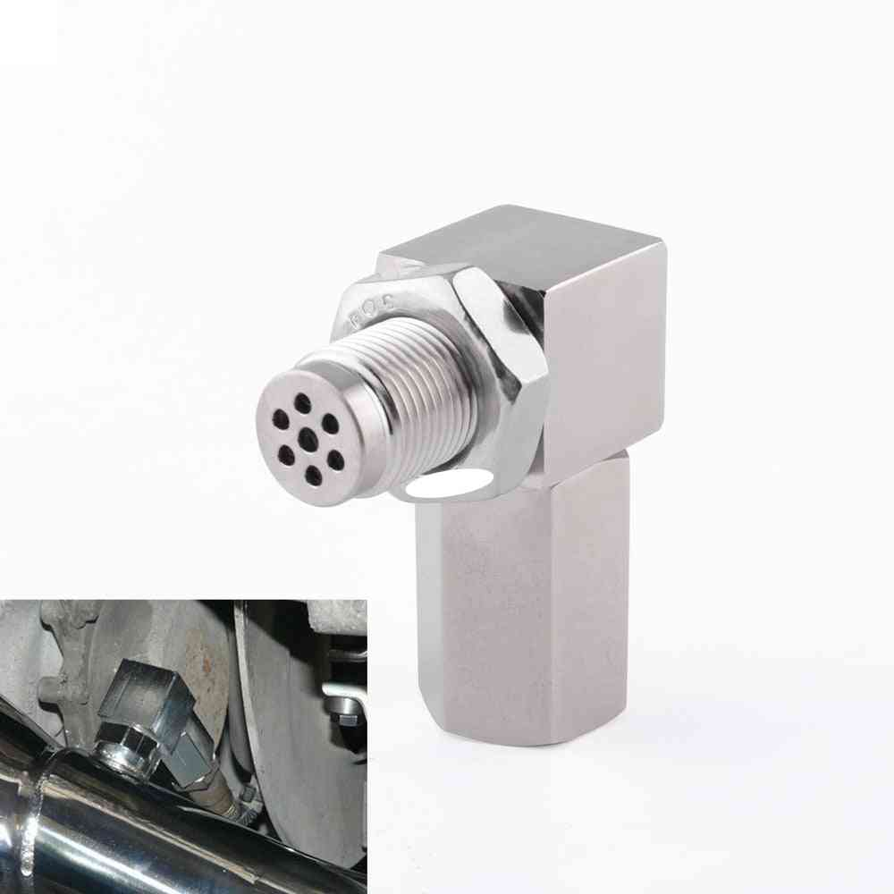 90-degree With 2-bung Catalytic Converter, Oxygen Sensor, Extender Spacer