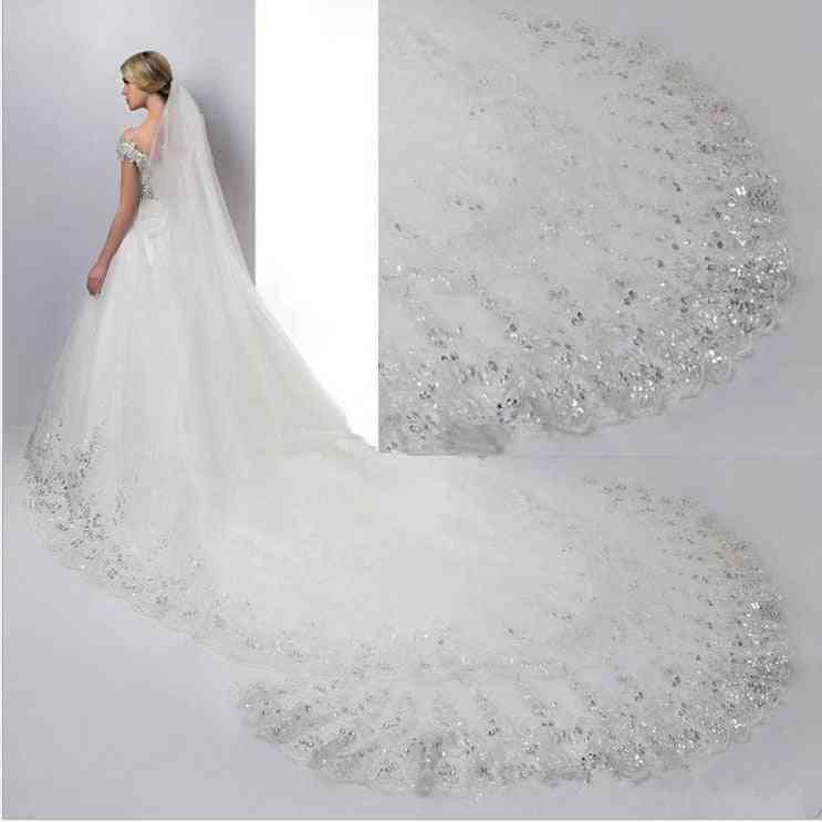Cathedral Long-lace Edge, Bridal Veil With Comb
