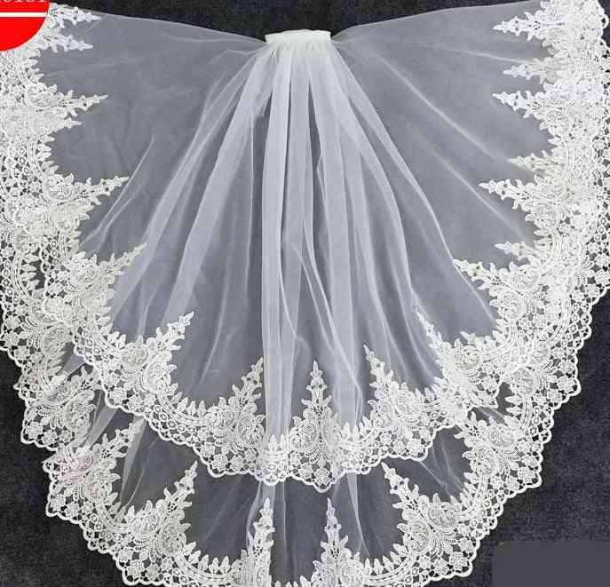 Two Layer Short Bridal Veils