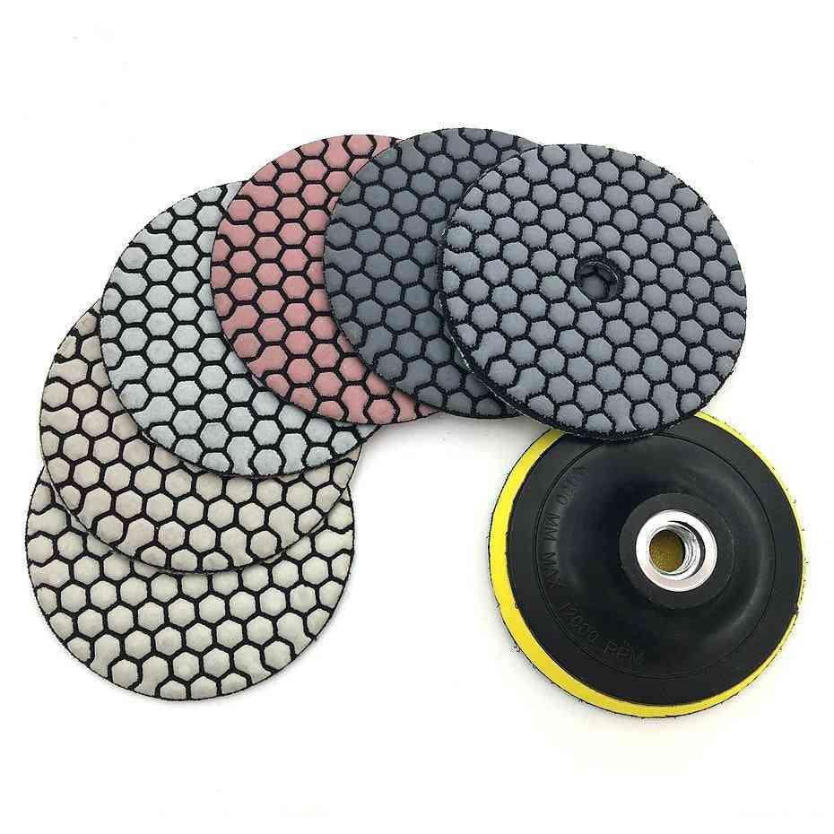 Dry Polishing Pad Sharp Type Flexible For Granite Marble Stone Sanding Disc
