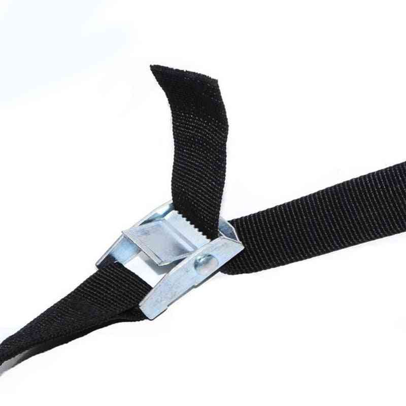 1m Buckle Tie-down Belt Cargo Straps For Car Motorcycle With Metal Buckle Rope