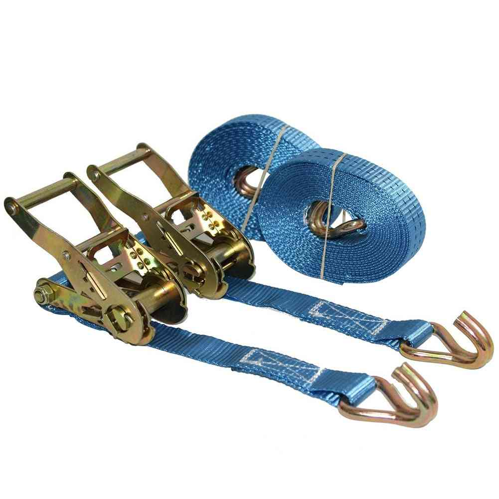 Lorry Lashing Polyester Ratchet Belt, Weaving Durable For Car / Motorcycle