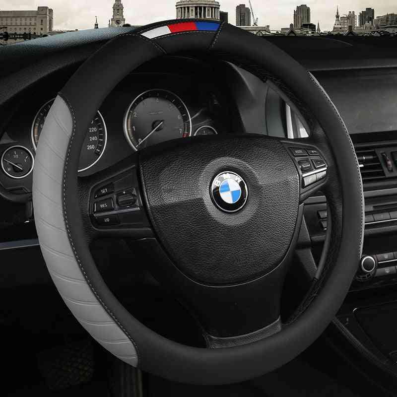 Car Steering Wheel Covers, Anti-slip Leather Sport Auto Steering-wheel Cover