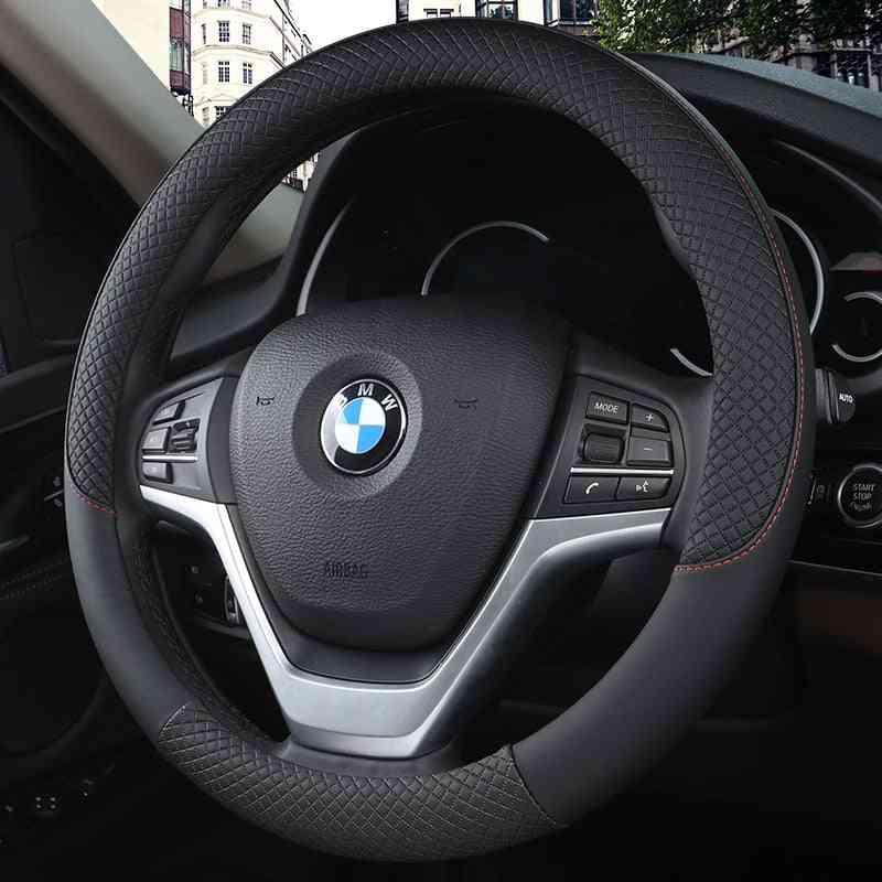 Sport Car Steering Wheel Covers Anti-slip Leather Auto Steering-wheel Cover