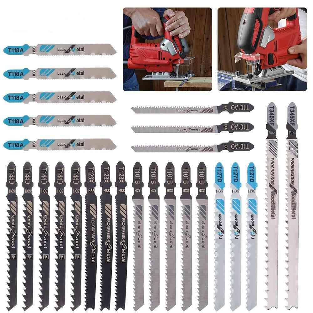 Saw /t-shank Jigsaw /assorted Blades For Wood Plastic Metal Cutting