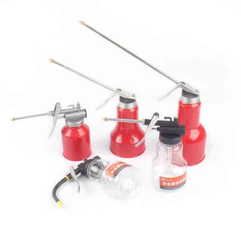 Oil Can Lubrication High Pressure Pump Oiler Grease Gun Clear Repair Tool